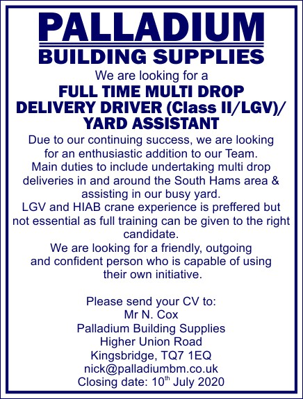 Delivery Driver Job Offer